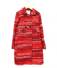 MILLY(ミリー)の古着「ノーカラーコート」|レッド