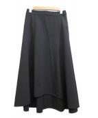 ASTRAET(アストラット)の古着「アシンメトリーフレアスカート」|ブラック