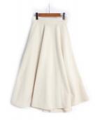 OBLI(オブリー)の古着「フレアスカート」|オフホワイト