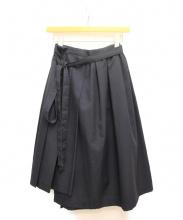 COMME des GARCONS COMME des GARCONS(コムデギャルソン コムデギャルソン)の古着「ポリギャバウールプリーツスカート」