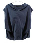 Deuxieme Classe(ドゥージーエムクラス)の古着「ショートスリーブブラウス」 ネイビー