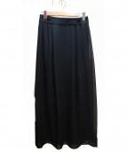 ADORE(アドーア)の古着「トリアセシフォン2枚重ねスカート」|ブラック