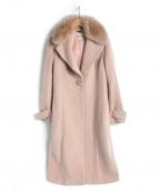 Debut De Fiore(デビュードフィオレ)の古着「ファー衿付Ladyテーラードコート」 ピンク