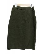 08sircus(08サーカス)の古着「ニットスカート」|オリーブ