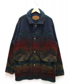 WOOLRICH(ウールリッチ)の古着「ネイティブ柄コート」|ネイビー×レッド