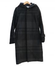 GALERIE VIE(ギャルリーヴィー)の古着「チェックフーデッドコート」