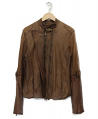 SISII(シシ)の古着「レザージャケット」 ブラウン