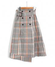 FRAY ID(フレイ アイディー)の古着「チェックトレンチプリーツスカート」
