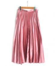 FRAY ID(フレイ アイディー)の古着「サテンカラープリーツスカート」