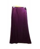 FRAY ID(フレイアイディー)の古着「ナローサテンスカート」|パープル