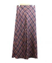 SLOBE IENA(スローブ イエナ)の古着「バイアスチェックロングスカート」