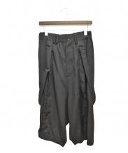 Yohji Yamamoto(ヨウジヤマモト)の古着「クロップドサスペンダーパンツ」