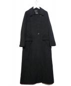 ARTISAN(アルチザン)の古着「カシミヤロングコート」|ブラック