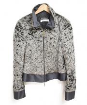 Salvatore Ferragamo(サルヴァトーレ フェラガモ)の古着「フェイクファーデザインジャケット」