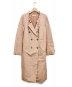 PRADA(プラダ)の古着「シルクサテンコート」 ピンク