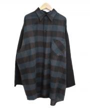 MM6(エムエムシックス)の古着「ヴァージンウールチェックシャツ」