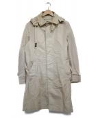 MACKINTOSH(マッキントッシュ)の古着「フード付ナイロンステンカラーコート コート」|ベージュ
