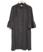 Kate Spade(ケイトスペード)の古着「袖フレアシャツワンピース ワンピース」|ブラック