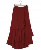 Diagram GRACE CONTINENTAL(ダイアグラムグレースコンチネンタル)の古着「フリルレイヤードスカート」|ブラウン