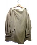 MAX&Co.(マックスアンドコー)の古着「ドレープコート」|ベージュ