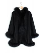 DAMA collection(ダーマ・コレクション)の古着「FOXファーカシミヤケープコート」|ブラック