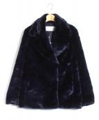 LE CIEL BLEU(ルシェルブルー)の古着「フェイクファーPコート」|ネイビー