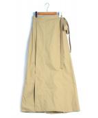 CELINE(セリーヌ)の古着「ラップスカート」 カーキ