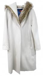 DES PRES(デプレ)の古着「メルトンファーコンビフーデッドコート」