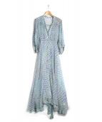 styling/ kei shirahata(スタイリング / ケイ シラハタ)の古着「シルクパフスリーブドレス」