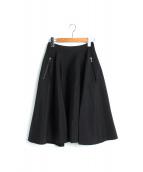 FOXEY(フォクシー)の古着「ダイヤモンドマトラッセフレアスカート」|ブラック