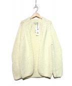 MAISON ANJE(メゾンオンジェ)の古着「ニットカーディガン」|ホワイト