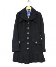 BURBERRY BLUE LABEL(バーバリーブルーレーベル)の古着「ウールプリーツコート」