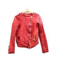GIORGIO BRATO(ジョルジオブラット)の古着「レザーライダースジャケット」
