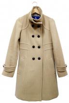 BURBERRY BLUE LABEL(バーバリーブルーレーベル)の古着「アンゴラ混スタンドカラーコート」