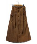 MUVEIL(ミュベール)の古着「フロントボタンロングスカート」