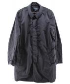 ARMANI JEANS(アルマーニジーンズ)の古着「ナイロンステンカラーコート」|ネイビー