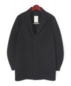 MONOBI(モノビ)の古着「ボンディングメルトンチェスターコート」 ブラック