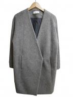 EN ROUTE(アンルート)の古着「シャギーノーカラーコート」