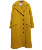 LE CIEL BLEU(ルシェルブルー)の古着「ナッピングレディウールコート」 イエロー