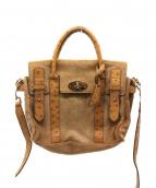 MULBERRY(マルベリ)の古着「ハラコ2WAYバッグ」|キャメル