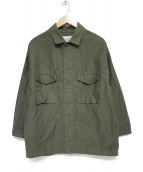 Deuxieme Classe(ドゥーズィエム)の古着「ミリタリージャケット ジャケット」|オリーブ