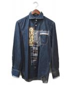 JUNYA WATANABE COMME des GARCONS(ジュンヤワタナベ コムデギャルソン)の古着「パッチワークデニムシャツ」