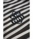中古・古着 BALENCIAGA (バレンシアガ) ボーダーポロシャツ ブラック×ブラウン サイズ:XS:3980円