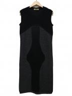 BALENCIAGA(バレンシアガ)の古着「ノースリーブニットワンピース」|ブラック
