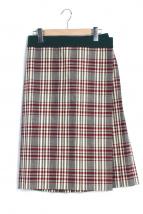 Drawer(ドゥロワー)の古着「タータンチェックプリーツラップスカート」