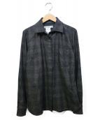 MaxMara(マックスマラ)の古着「グレンチェックシャツ」|グレー