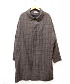 WHOS WHO gallery(フーズフーギャラリー)の古着「オーバーステンカラーコート」|ブラウン