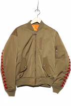 G.V.G.V.(ジーブイジーブイ)の古着「レースアップMA-1ジャケット」 オリーブ
