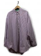 BALENCIAGA(バレンシアガ)の古着「18SS/ストライプラージフィットタグシャツ」