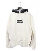 ()の古着「Box Logo Hooded Sweatshirt」|ホワイト×ブラック